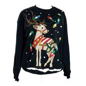 gildan Ugly Christmas sweater Sweatshirt black l